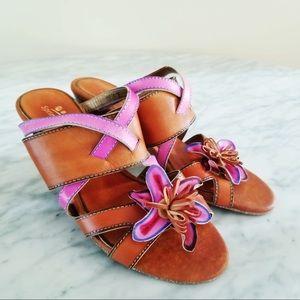 New Spring Step Nadia Hand Painted Slide Sandal